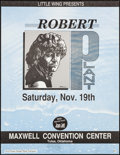 "Movie Posters:Rock and Roll, Robert Plant with Joan Jett at the Maxwell Convention Center(Little Wing, 1988). Concert Poster (17"" X 22""). Rock and Roll...."