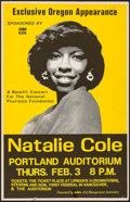 "Movie Posters:Rock and Roll, Natalie Cole at the Portland Auditorium (AMA, 1977). BenefitConcert Window Card (14"" X 22""). Rock and Roll.. ..."