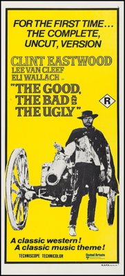 "The Good, the Bad and the Ugly (United Artists, R-1970s). Australian Post-War Daybill (13.5"" X 30""). Western..."