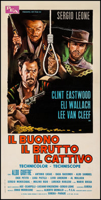 """The Good, the Bad and the Ugly (PEA, R-1969). Italian Locandina (13"""" X 26""""). Western"""