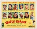 "Movie Posters:Sports, Triple Threat (Columbia, 1948). Half Sheet (21.75"" X 28"") Style B. Sports.. ..."