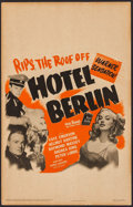 "Movie Posters:War, Hotel Berlin (Warner Brothers, 1945). Window Card (14"" X 22"").War.. ..."