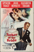 "Movie Posters:Comedy, Father of the Bride (MGM, 1950). One Sheet (27"" X 41""). Comedy.. ..."