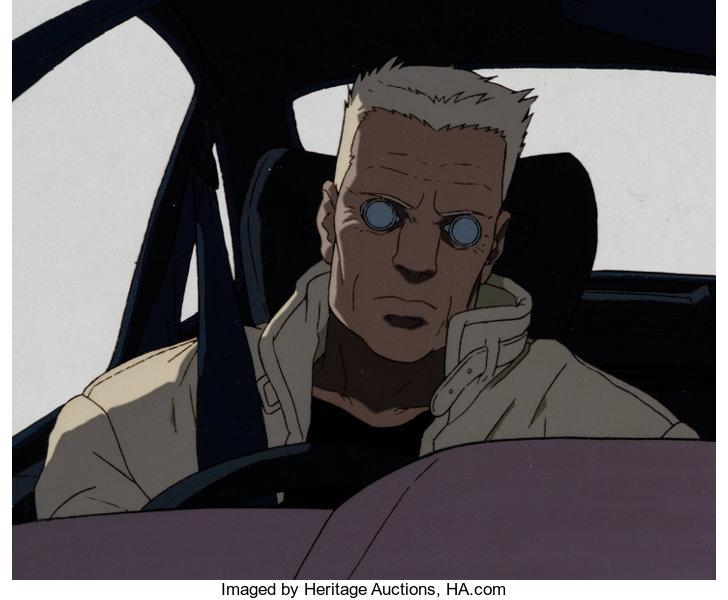 Ghost In The Shell Batou Anime Production Cel Setup And Animation Lot 14175 Heritage Auctions