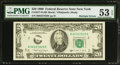 Error Notes:Obstruction Errors, Obstruction and Board Break Error Fr. 2077-B $20 1990 FederalReserve Note. PMG About Uncirculated 53 EPQ.. . ...