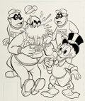 Original Comic Art:Covers, Larry Mayer The Beagle Boys #43 Cover Uncle Scrooge OriginalArt (Gold Key, 1978)....