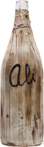 Boxing Collectibles:Memorabilia, 1980 Muhammad Ali Water Bottle Used in Training, Signed. ...