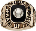 Baseball Collectibles:Others, 1977 Ernie Banks Baseball Hall of Fame Induction Ring....