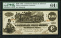 Confederate Notes:1862 Issues, Fully Framed CT39 $100 1862.. ...