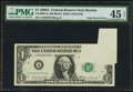 Error Notes:Attached Tabs, Fr. 1904-A $1 1969A Federal Reserve Note. PMG Choice Extremely Fine45 EPQ.. ...