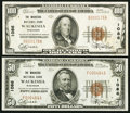 National Bank Notes:Wisconsin, Waukesha, WI - $50 1929 Ty. 1 and $100 1929 Ty. 1 The Waukesha NB Ch. # 1086. ... (Total: 2 notes)