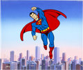 Animation Art:Presentation Cel, Superman Publicity Cel (Ruby-Spears, 1988)....