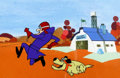 Animation Art:Color Model, Dastardly and Muttley in Their Flying Machines Color Model (Hanna-Barbera, 1969)....