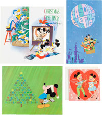 The Story of Walt Disney and Disney-Related Greeting Card Group (Dell/Walt Disney, c. 1950s-60s).... (Total: 6 Items)