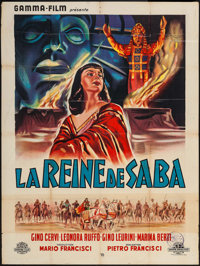 "Queen of Sheba (Gamma-Jeannic Film, 1952). French Grande (47"" X 62""). Foreign"