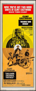 "Movie Posters:Western, The Good, the Bad and the Ugly/Hang 'Em High Combo (United Artists, R-1969). Insert (14"" X 36""). Western.. ..."