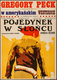 """Duel in the Sun (CWF, 1970). First Release Polish One Sheet (23"""" X 32.5""""). Western"""