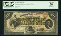 Fr. 191a $20 1864 Compound Interest Treasury Note PCGS Apparent Very Fine 20