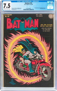 Batman #25 (DC, 1944) CGC VF- 7.5 Off-white to white pages