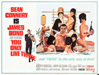"You Only Live Twice (United Artists, 1967). Subway (45"" X 59.5"") Style C. James Bond"