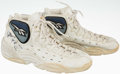Basketball Collectibles:Others, 1996-97 Mark Jackson Game Worn, Signed Denver Nuggets Shoes....