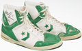 Basketball Collectibles:Others, Mark Aguire Game Worn, Signed Shoes....
