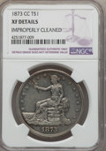 Trade Dollars: , 1873-CC T$1 -- Improperly Cleaned -- NGC Details. XF. NGC Census:(4/113). PCGS Population (29/184). Mintage: 124,500. CDN ...