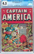Golden Age (1938-1955):Superhero, Captain America Comics #4 (Timely, 1941) CGC VG+ 4.5 Cream to off-white pages....