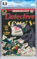 Golden Age (1938-1955):Superhero, Detective Comics #71 (DC, 1943) CGC VF 8.0 Off-white to white pages....