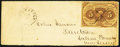 Fractional Currency:First Issue, Fr. 1230 Used As Postage on Envelope.. ...