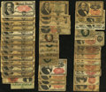 Fractional Currency:Group Lots, Fractional Group Lot Poor or Better.. ... (Total: 97 notes)