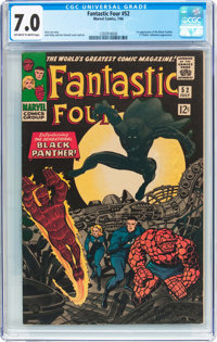 Fantastic Four #52 (Marvel, 1966) CGC FN/VF 7.0 Off-white to white pages