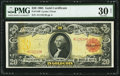 Large Size:Gold Certificates, Fr. 1180 $20 1905 Gold Certificate PMG Very Fine 30 Net.. ...