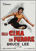"""Movie Posters:Action, The Chinese Connection (Titanus, 1973). Italian 2 - Fogli (39.25"""" X55""""). Action.. ..."""