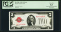 Small Size:Legal Tender Notes, Fr. 1501 $2 1928 Legal Tender Note. Missing Back Plate Number. PCGS Choice New 63.. ...