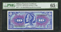 Military Payment Certificates:Series 611, Series 611 $10 PMG Gem Uncirculated 65 EPQ.. ...