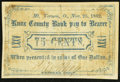 Obsoletes By State:Ohio, Mount Vernon, OH- Phil. May at Knox County Bank 75¢ Nov. 25, 1862Wolka 1742-05. ...