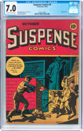 Golden Age (1938-1955):Horror, Suspense Comics #6 (Continental Magazines, 1944) CGC FN/VF 7.0Off-white to white pages....