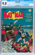 Golden Age (1938-1955):Superhero, Batman #43 (DC, 1947) CGC VF/NM 9.0 White pages....