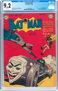 Batman #52 (DC, 1949) CGC NM- 9.2 White pages