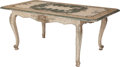 Furniture : Continental, A Venetian Polychrome Painted Table, 19th century. 29 h x 69 w x 36d inches (73.7 x 175.3 x 91.4 cm). ...