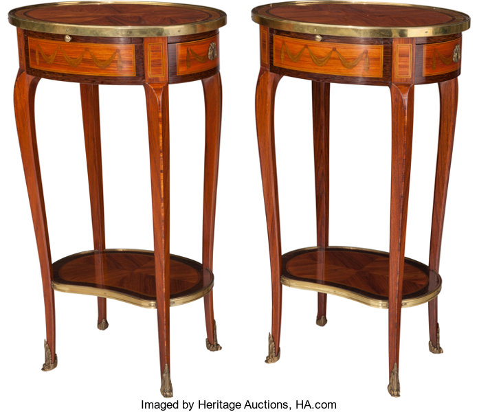 Incredible A Pair Of Louis Xvi Style Marquetry And Fruitwood Side Machost Co Dining Chair Design Ideas Machostcouk