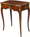 Furniture : French, A Gervais-Maximillien-Eugène Durand Louis XV-Style Walnut,Tulipwood and Amaranth Marquetry Writing Table with Gilt BronzeMou... (Total: 3 Items)