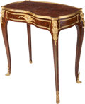 Furniture : French, A Paul Sormani Louis XV-Style Mahogany and Kingwood Parquetry andGilt Bronze Mounted Table Ambulante, Paris, France, last q...