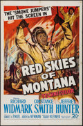 "Movie Posters:Adventure, Red Skies of Montana & Others Lot (20th Century Fox, 1952). OneSheets (3) (27"" X 41""). Adventure.. ... (Total: 3 Items)"