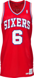 "Basketball Collectibles:Uniforms, 1986-87 Julius ""Dr. J"" Erving Game Worn Philadelphia 76ers Jersey,MEARS A8...."