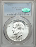 Eisenhower Dollars, 1972-S $1 Silver MS68+ PCGS. CAC. PCGS Population (1784/23 and 18/0+). NGC Census: (447/5 and 3/0+). Mintage: 2,193,056....