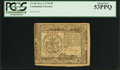 Colonial Notes:Continental Congress Issues, Continental Currency November 2, 1776 $5 PCGS About New 53PPQ.. ...