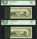 Error Notes:Ink Smears, Fr. 2073-G $20 1981 Federal Reserve Notes. Two ConsecutiveExamples. PCGS Very Choice New 64.. ... (Total: 2 notes)
