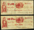 Obsoletes By State:Ohio, Basil, OH- Wildermuth & Miller 50¢; $1 July 30, 1859 Wolka126-05; 126-06. ... (Total: 2 notes)